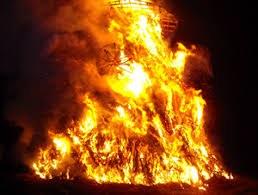 Grand feu à Lutremange